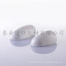Frascos de forma especial para cuidados com a pele