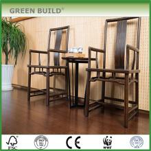 plancher de bambou tissé noir brossé de 14mm