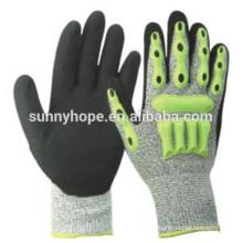 HPPE Нитриловые песчаные TPR-перчатки для воздействия