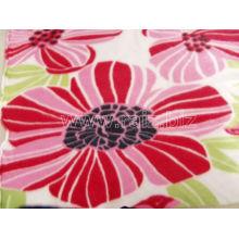 Tecido de tecido polido fletido da flor para cobertores