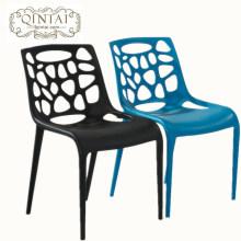 Cadeira plástica leve e empilhável, cadeira de jantar de moda, cadeira de espera de lazer