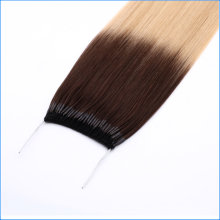 Wholesale 100% Brazilian Remy Human Hair Top Grade Staight Omber Color 1b/613# Knot Thread Human Hair Extension