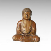 Buddha-Statue Tathagata sitzende Bronze-Skulptur Tpfx-B56