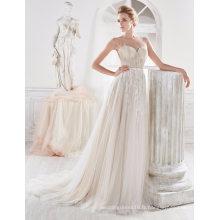 Robe De Mariée Dos Nu De Perles En Tulle De Mariée