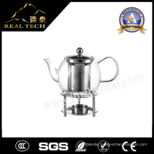Factory Supply Heat Resistant Glass Teapot with Warmer