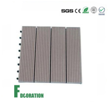 WPC DIY Interlocking Plastic Base Deck Tile