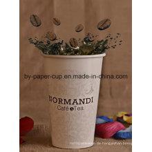 Warmes Getränk Kaffee Papier Tasse