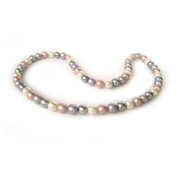 Hematite Mix color Pearl necklace