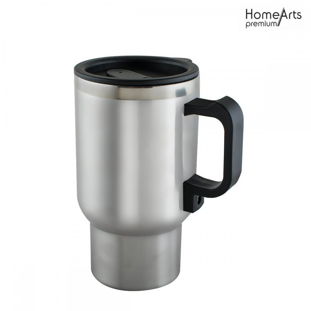 Car Use 12V Heating Cup 450ml Stainless Steel Coffee Mug