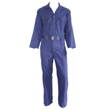 Euro Work Blue Coverall with Metal Buckle