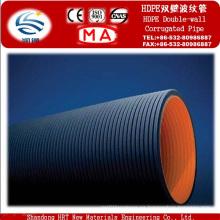Tubería de agua corrugada del HDPE de la pared doble del fabricante