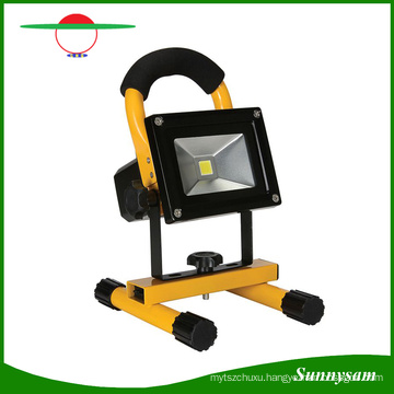 Portable Ultra Brightness 10W COB Rechargeble Solar LED Flood Work Light, Water Resistant Cordless Rechargeable Camping Lamp