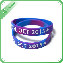 Free Sample Fee Red and Blue Silicone Wristband (HN-GJ-15716)