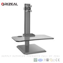 Support inclinable et pivotant de bureau d'ordinateur réglable de bras de moniteur simple de bras d'ordinateur