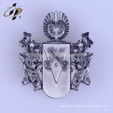 Pin de plata de la insignia del sheriff de la plata antigua del metal de encargo al por mayor del precio de fábrica