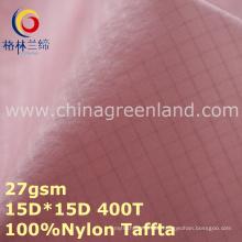 Plaid Nylon Taffeta Waterproof Fabric for Garment Clothes (GLLML277)