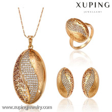 62935 New women's fashion 18k gold color zircon jewelry set