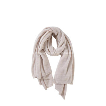 Bufanda suave tejida de lana de cachemir First Essential para mujer