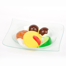 Plastic Disk Disposable Saucer Classical Square Dish