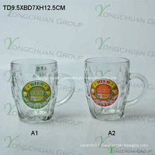500ml Glass Bear Cup with Decal Nice Shape