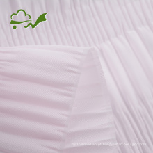 Tecido plissado para forro de caixão de franzido
