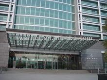 Laminated glass stainless steel door canopy awning