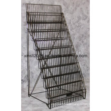 10 Tier Metal Magazine Rack