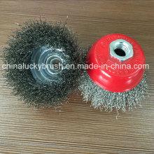Cepillo de la taza del acero inoxidable 3inch (YY-584)
