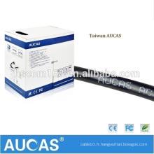 Aucas Factory Supply 2 fils 1 paire de câble téléphonique RJ11 Câble téléphonique Cables téléphoniques CE Passed