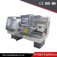 Gute Steifigkeit Servo stufenlose Geschwindigkeit CNC Rohrgewinde Drehmaschine QK1313