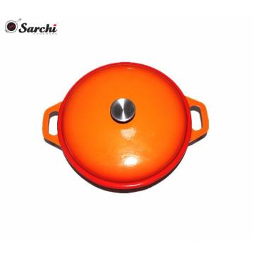 Enamelled Cast Iron Shallow Casserole Dish