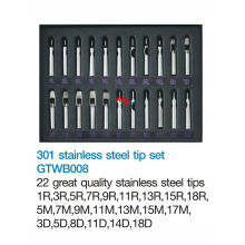 Stainless Steel Tattoo Tips 22Pcs/set For Tattoo Gun Needle
