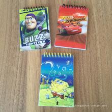 Bloco de notas promocional do presente do caderno do bloco de notas mini espiral barato