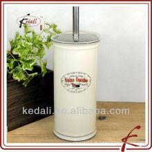 Weiße Glasur farbige Abziehbild keramische Reinigung Toilettenbürsten-Set