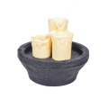 Table fontaine bougie 3pcs ronde