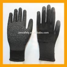 Black Industrial Heavy Work Grip Latex Dipped Gloves