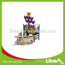 Wenzhou China Manufacture Cheap LLDPE Plastic Outdoor Playground/pirate ship Gym for Kids