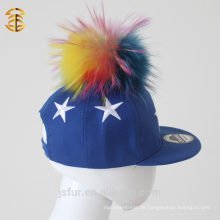 6 Panel Stickerei Custom Sport Pom Pom Hysteresen Cap für Kinder