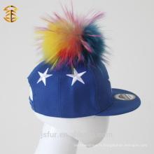 6 panneaux de broderie Custom Sports Pom Pom Snapback Cap pour enfants