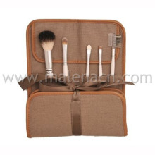 Private Label 5PCS Makeup Brush with Brown Cosmetic Bag