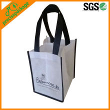reusable non woven wine bottle bag for 4 bottles