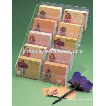 acrylic desktop business name card holder, clear brochure holder