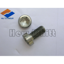 high end Ti6AI4V Titanium torx thin head screws DIN6912