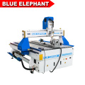 Blue elephant 1325 4 axis cnc router round wood carving machine with CE certified