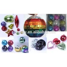 bolas baratas del mosaico del disco de la Navidad en diversas formas