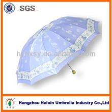10K schicke Satin Regenschirm mit hoher Dichte