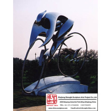 High quality School Stainless Steel Sculpture