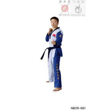 Taekwondo uniform v-neck black collars