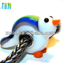 european lampwork glass animal colorful bird charm beads