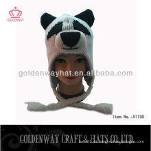 Sombreros que hacen punto del invierno vendedor caliente 2013 con el patrón animal